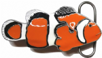 Clown Fish Belt Buckle + display stand. Code PE5